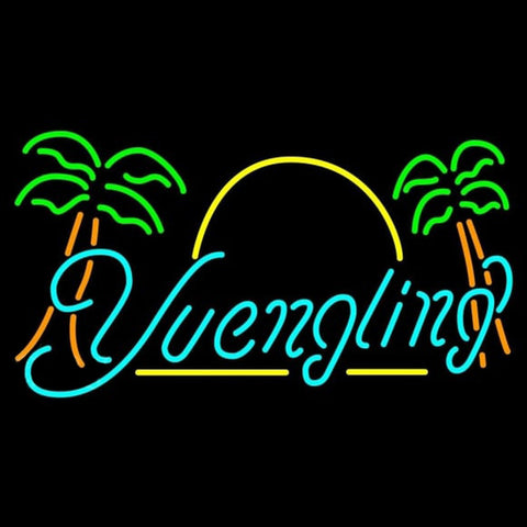 Yuengling Sun Palm Trees Beer Sign Handmade Art Neon Sign