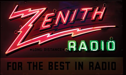Zenith Radio Real Neon Glass Tube Neon Signs