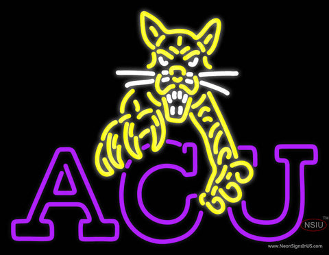 Abilene Christian Wildcats Alternate 7  Logo NCAA Neon Sign