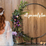 white all you need is love neon sign for wedding homemade art neon sign