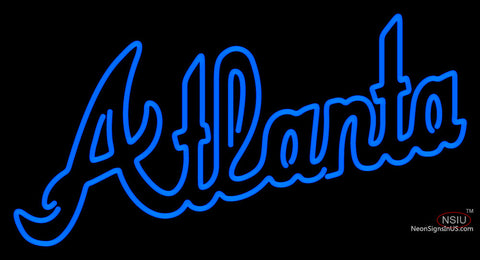 Atlanta Braves Alternate Wordmark   Logo MLB Neon Sign