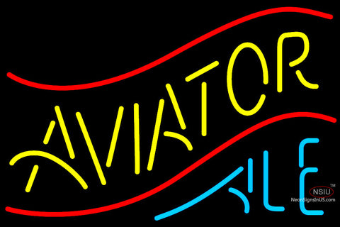 Aviator Ale Neon Beer Sign