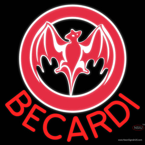 Bacardi Bat Red Logo Neon Rum Sign