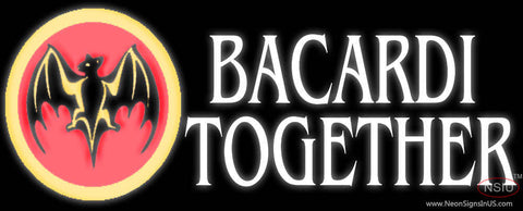 Bacardi Bat Together Neon Rum Sign