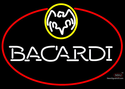 Bacardi Oval Neon Rum Sign