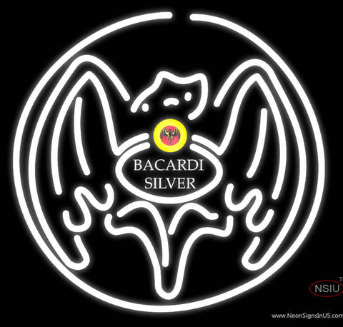Bacardi Silver Bat Neon Rum Sign