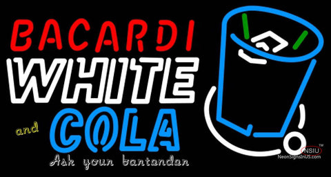 BACARDI White And Coke Neon Rum Sign