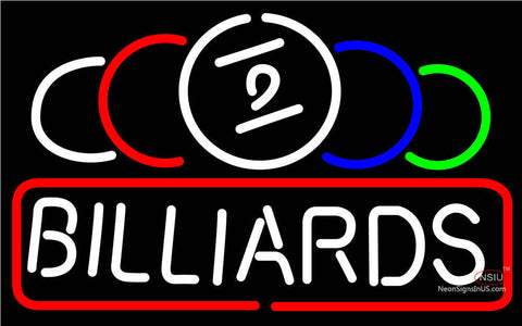 Ball Billiard Text Pool Neon Beer Sign