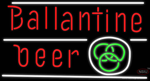 Ballantine Green Logo Neon Beer Sign