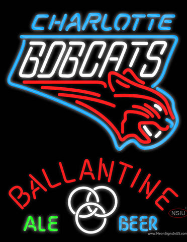 Ballantine Charlotte Bobcats NBA Neon Beer Sign