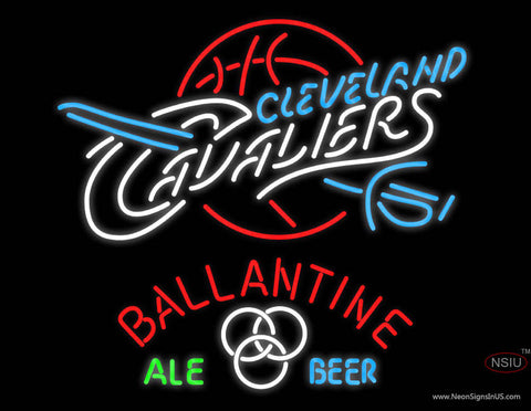Ballantine Cleveland Caveliers NBA Neon Beer Sign