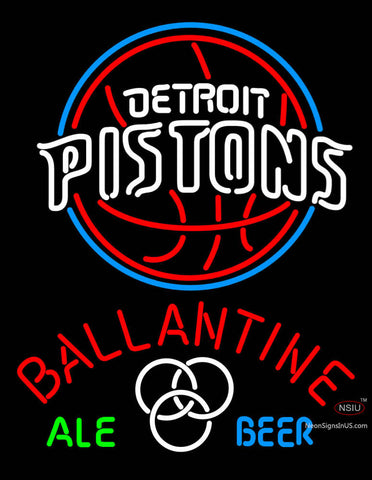 Ballantine Detroit Pistons NBA Neon Beer Sign