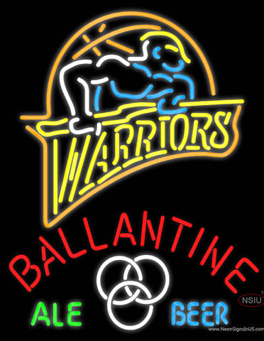 Ballantine Golden St Warriors NBA Neon Beer Sign
