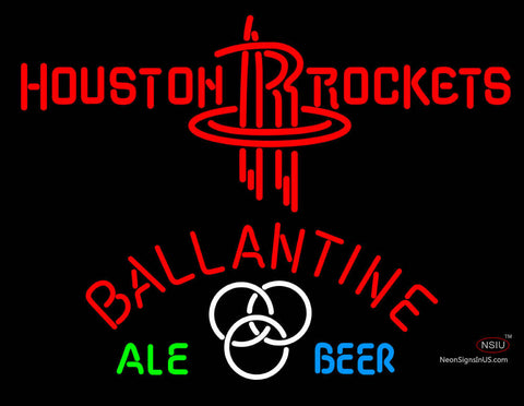 Ballantine Houston Rockets NBA Neon Beer Sign