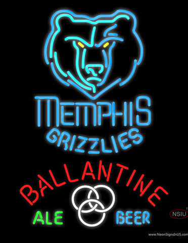 Ballantine Memphis Grizzlies NBA Neon Beer Sign