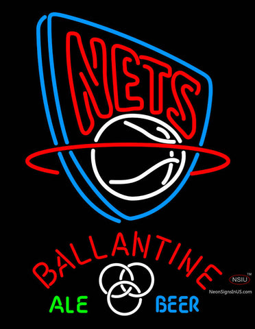 Ballantine New Jersey Nets NBA Neon Beer Sign