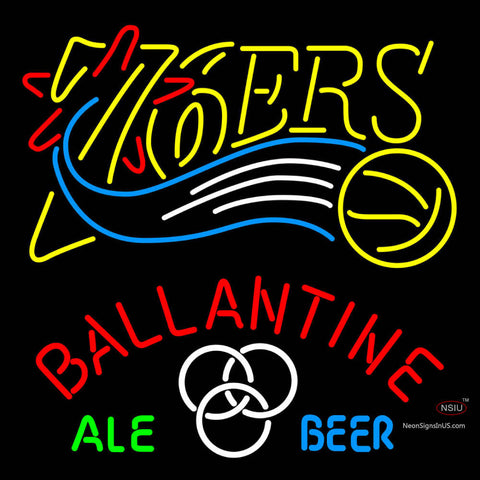 Ballantine Philadelphia 7ers NBA Neon Beer Sign