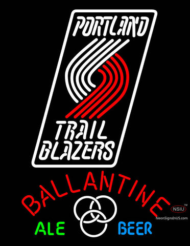 Ballantine Portland Trail Blazers NBA Neon Beer Sign