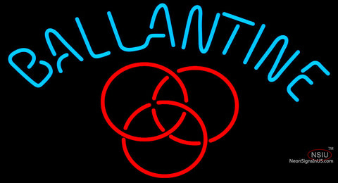 Ballantine Red Logo Neon Beer Sign