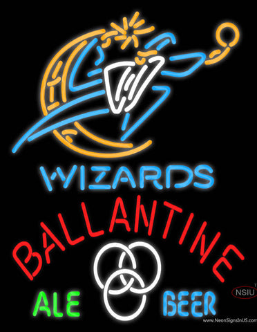 Ballantine Washington Wizards NBA Neon Beer Sign
