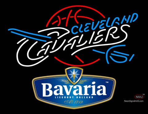 Bavarian Cleveland Caveliers NBA Neon Beer Sign