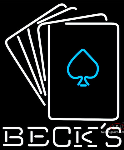 Becks Cards Neon Sign