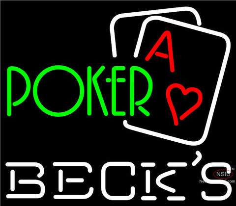Becks Green Poker Neon Sign x