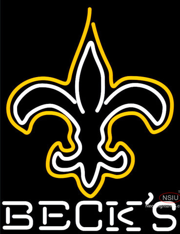 Becks New Orleans Saints NFL Neon Sign