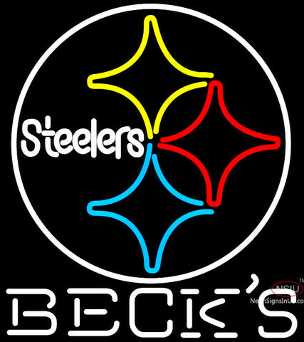 Becks Pittsburgh Steelers NFL Neon Sign