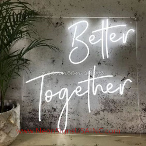 Better Together Wedding Home Deco Neon Sign