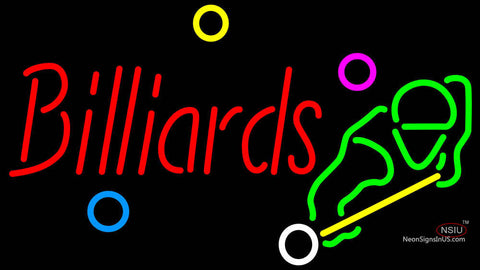 Billiards Boy Neon Sign