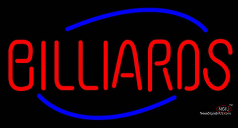 Billiards Oval Neon Sign