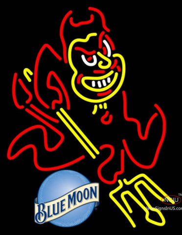 Blue Moon Arizona State Sun Devils UNIVERSITY Neon Sign Asu