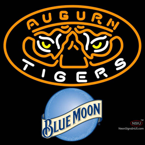 Blue Moon Auburn Tigers UNIVERSITY Neon Sign