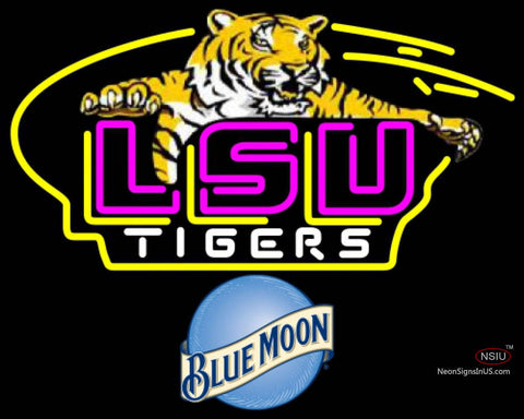 Blue Moon Awesome LSU Tigers Logo Neon Sign NCAA
