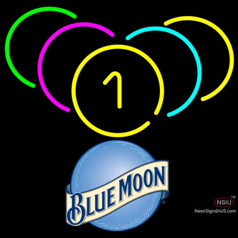 Blue Moon Billiard Rack Pool Neon Beer Sign   x