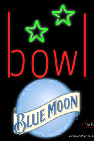 Blue Moon Bowling Alley Neon Sign