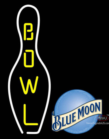 Blue Moon Bowling Neon Sign