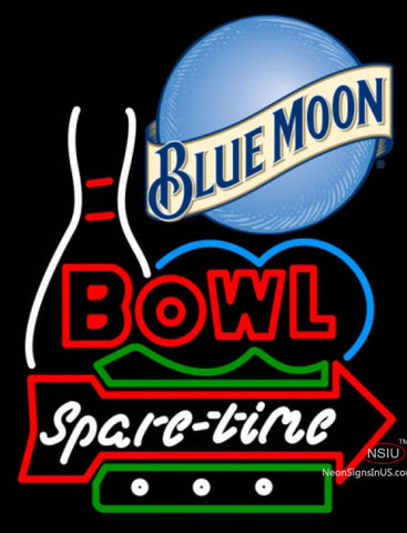 Blue Moon Bowling Spare Time Neon Sign