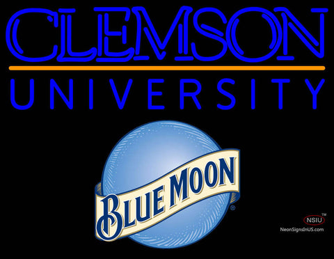 Blue Moon Clemson UNIVERSITY Neon Sign