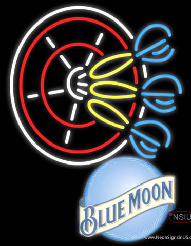 Blue Moon Darts Neon Sign