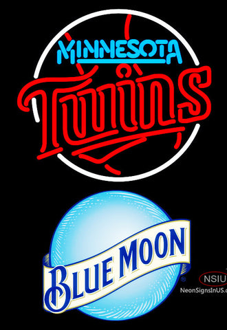 Blue Moon Minnesota Twins MLB Neon Sign