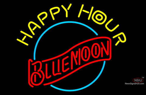 Blue Moon Classic Happy Hour Neon Beer Sign