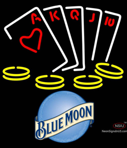 Blue Moon Poker Ace Series Neon Sign 7