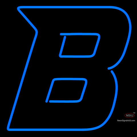 Boise State Broncos Secondary  Pres Logo NCAA Neon Sign