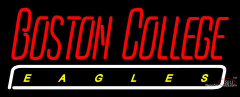 Boston College Eagles Wordmark  Pres Logo NCAA Neon Sign
