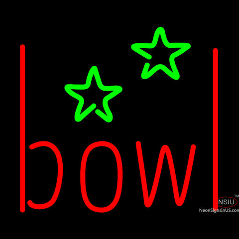 Bowling Alley Neon Sign x