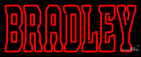 Bradley Braves Wordmark  Pres Logo NCAA Neon Sign