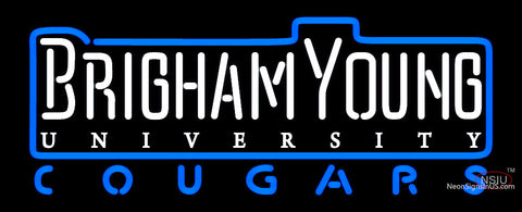 Brigham Young Cougars Wordmark   Logo NCAA Neon Sign