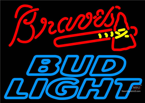 Bud Light Atlanta Braves MLB Neon Beer Sign